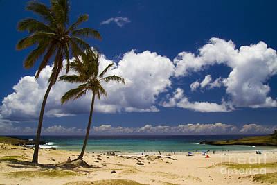 Photograph - Anakena Beach On Easter Island by David Smith