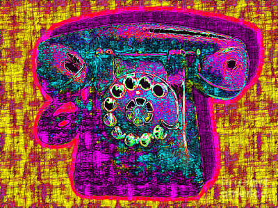 Analog A-phone - 2013-0121 - V1 Art Print by Wingsdomain Art and Photography
