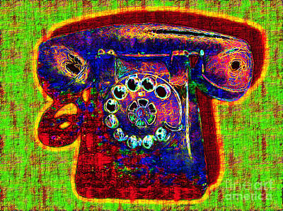 Analog A-phone - 2013-0121 - V2 Art Print by Wingsdomain Art and Photography
