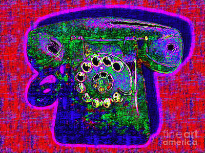 Old Phone Booth Photograph - Analog A-phone - 2013-0121 - V4 by Wingsdomain Art and Photography