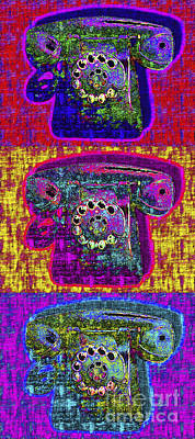 Old Phone Booth Photograph - Analog A-phone Three - 2013-0121 by Wingsdomain Art and Photography