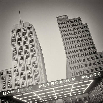 Black And White Photograph - Analog Photography - Berlin Potsdamer Platz by Alexander Voss