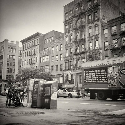 East Village Photograph - Analog Photography - New York East Village No.8 by Alexander Voss
