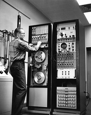 Sixties Photograph - Analog Tape Recorder by Underwood Archives