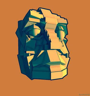 Analytic Head 050414 Art Print by Thomas Kostiuk