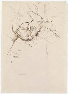 Umberto Boccioni Drawing - Analytical Study Of A Womans Head by Umberto Boccioni