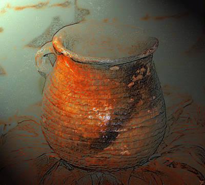 Anasazi Digital Art - Anasazi Cooking Pot by David Lee Thompson