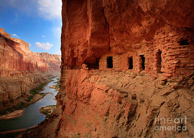 Deep River Photograph - Anasazi Granaries by Inge Johnsson