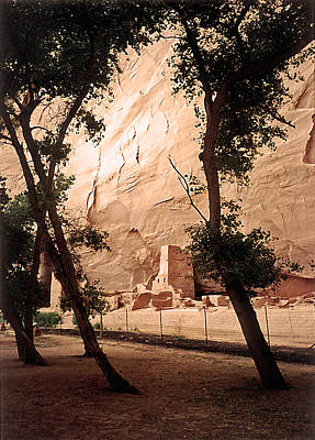 Photograph - Anasazi Ruins Canyon De Chelly 1993 by Connie Fox