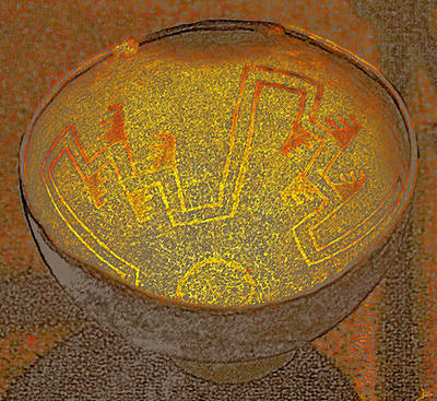 Anasazi Bowl Lost Pattern Art Print
