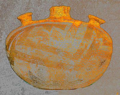 Anasazi Digital Art - Anasazi Bowl Dual Handles by David Lee Thompson
