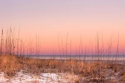 Anastasia Beach Dunes Sunset Art Print