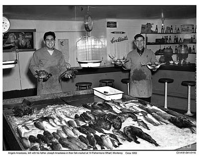 Photograph - Anastasia Fishermans Wharf Sea Food Monterey Circa 1950 by California Views Mr Pat Hathaway Archives