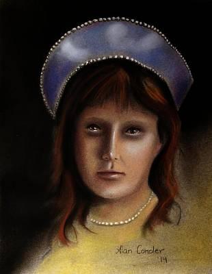 Drawing - Anastasia Nikolaevna Romanova by Alan Conder