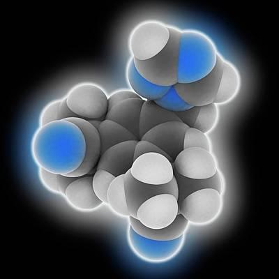 Anastrozole Drug Molecule Art Print by Laguna Design