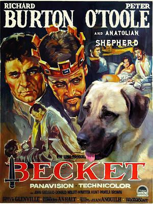 Painting - Anatolian Shepherd Kangal Art Canvas Print - Becket Movie Poster by Sandra Sij