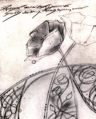 Drawing - Anatom Sketchbook Cover by Rebecca Tacosa Gray