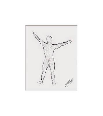 Expressionism Digital Art Drawing - Anatomy Study by Quim Abella
