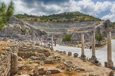 Library Of Celsus Photograph - Ancient Broadway by Stephen Stookey