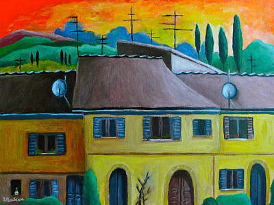 Painting - Ancient Volterra Wired by Victoria Lakes