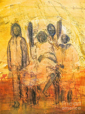 Robert Daniels Painting - Ancestorial Family by Robert Daniels
