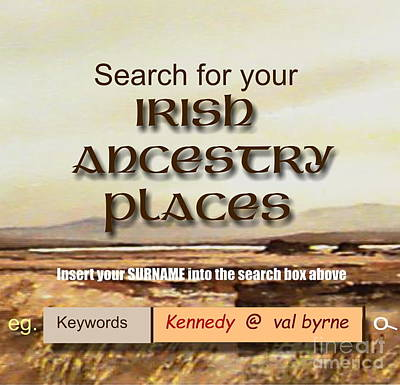Mixed Media - Ancestry Search by Val Byrne