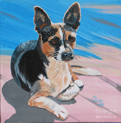 Painting - Ancho A Portrait Of A Cute Little Dog by Phyllis Kaltenbach