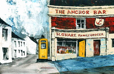 Anchor Bar  Carlingford  Louth Art Print by Val Byrne