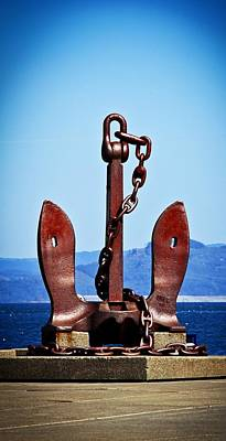 Aaron Lee Berg Photograph - Ship's Anchor  by Aaron Berg