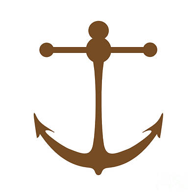 Photograph - Anchor In Brown And White by Jackie Farnsworth