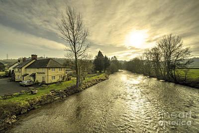 Inn River Photograph - Anchor Inn At Exbridge  by Rob Hawkins