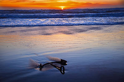 Anchor Ocean Beach Art Print by Garry Gay