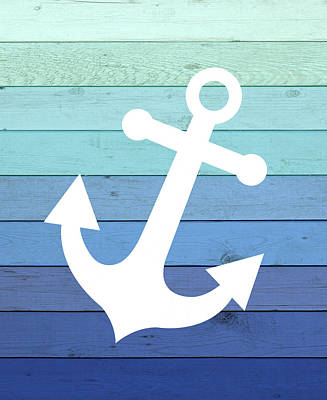 Painting - Anchor Ombre Wood by Tamara Robinson