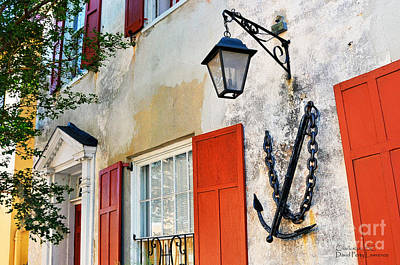 Photograph - Anchor On A Charleston S C House - Travel Photographer David Perry Lawrence by David Perry Lawrence