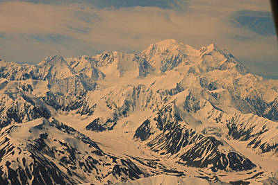 Photograph - Anchorage Alaska  Mount Denali by Ronald Olivier