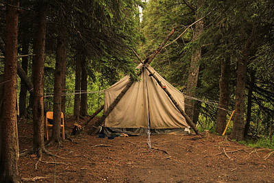 Photograph - Anchorage Alaska Trapers Tent by Ronald Olivier