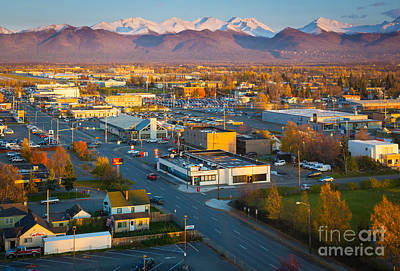 Anchorage Photograph - Anchorage Autumn by Inge Johnsson