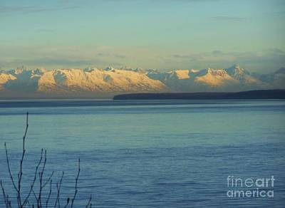 Anchorage Mountains Art Print