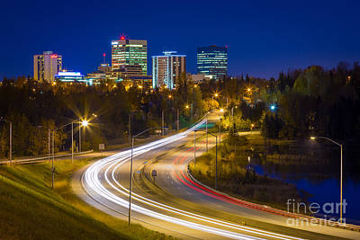 Tail Photograph - Anchorage Skyline by Inge Johnsson