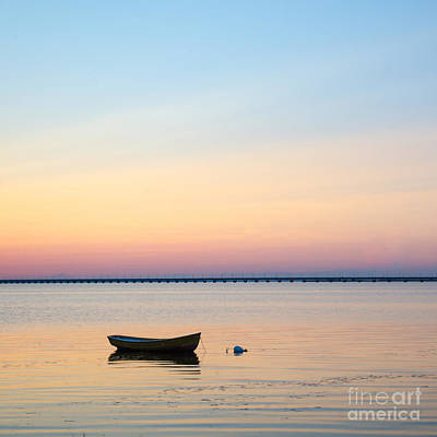 Photograph - Anchored At Sunset by Kennerth and Birgitta Kullman
