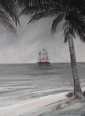 Painting - Anchored For The Night by Virginia Coyle