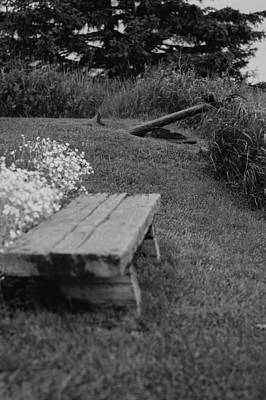 Photograph - Anchored Rest Stop In Black And White by Paul Mangold