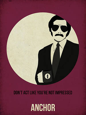 Burgundy Painting - Anchorman Poster by Naxart Studio