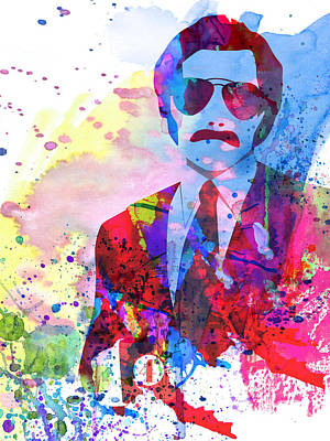 Crime Drama Movie Painting - Anchorman Watercolor 2 by Naxart Studio