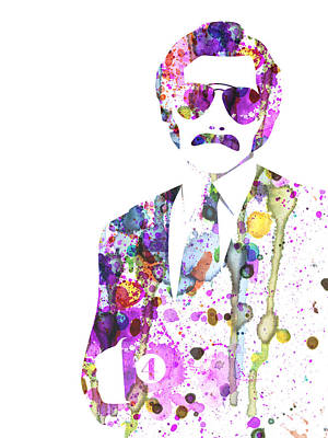 Anchorman Watercolor Art Print by Naxart Studio