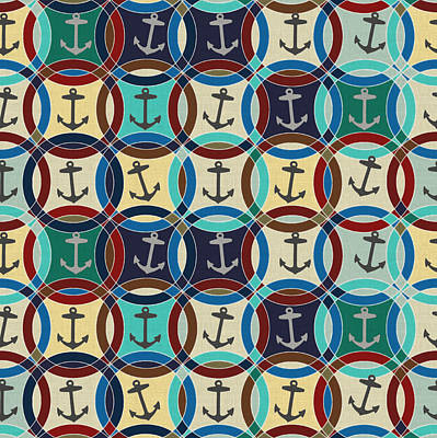 Pattern Drawing - Anchors by Sharon Turner