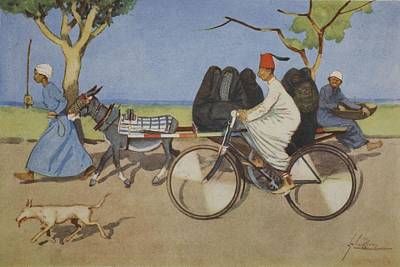 Bicycle Drawing - Ancient And Modern, From The Light Side by Lance Thackeray
