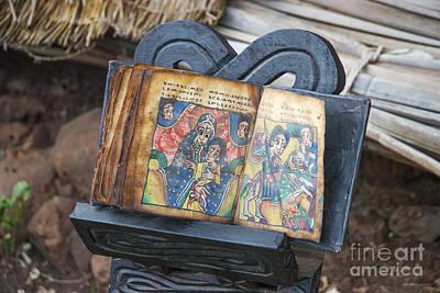 Photograph - Ancient Bible In Bahir Dar Ethiopia by Jacek Malipan