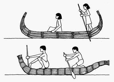 Loincloth Painting - Ancient Boats by Granger