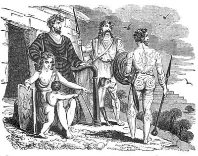 Ancient Briton, Caledonian And Irish Art Print by British Library